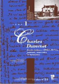 Charles Duvernet Écrits intimes (1855-1874) - Claire Le Guillou