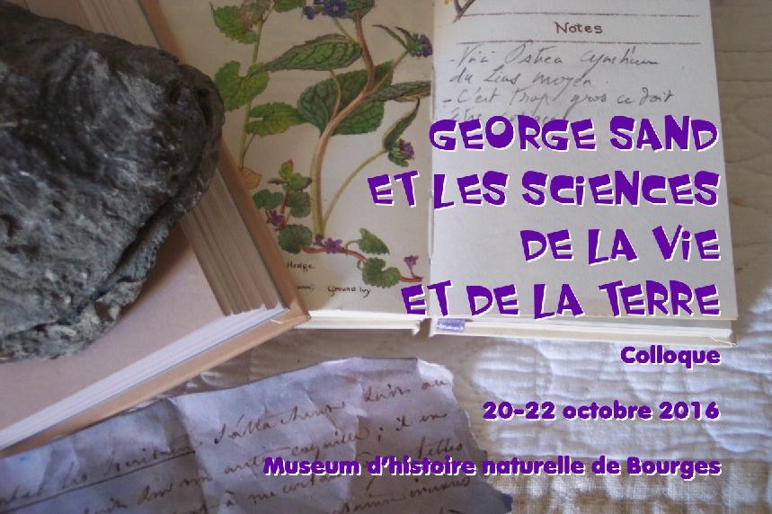 visuel du colloque George Sand et les sicences de la Vie et de la Terre