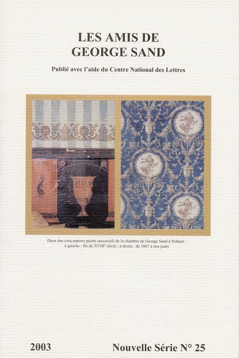 revue nouvelle série N°25 2003